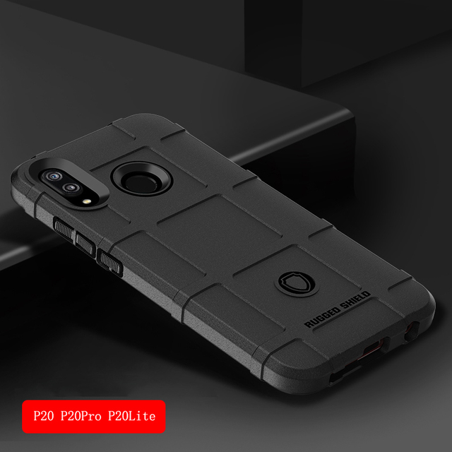 uk availability a5397 12ecb US $4.45 50% OFF For Coque Huawei P20 Lite Case Silicone Cell Phone Case  Huawei P20 P20 Pro P20 Plus Case Rugged Armor Shockproof Dous Cover-in  Fitted ...