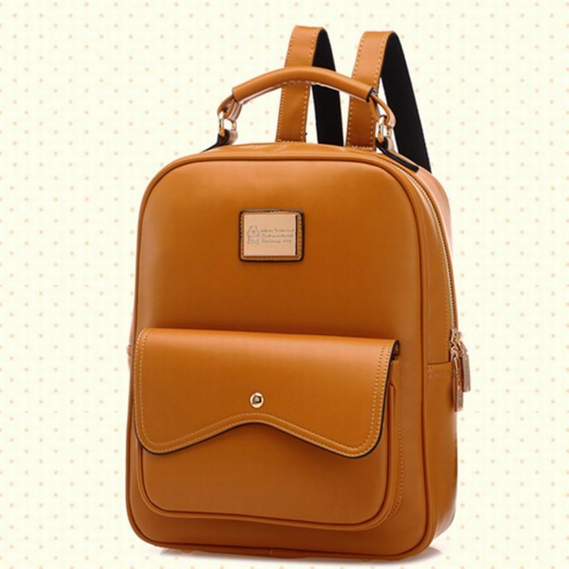 Girl New Schoolbag Casual en For Mochila de Bolsos School Fashion Leather Bags Ladies Teenager Mochilas Bags 2015 Vintage Backpack Korean y Travel Women qrfxqSwZP