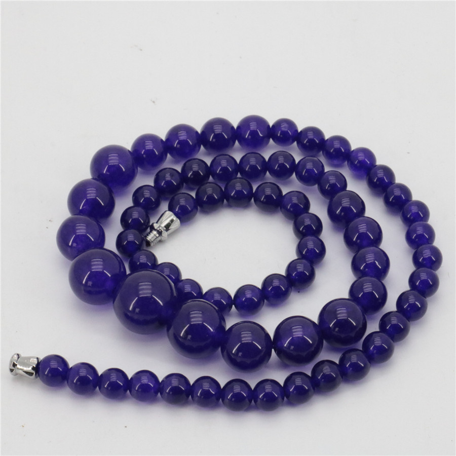 New arrival 6-14mm Necklace Purple crystal Round Beads long noble all-match woman Lovely Stone Jewelry accessories 18 xu11