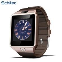 Schitec smartwatch original con soporte bluetooth android apple system largo bettery vida inteligente reloj teléfono móvil con tarjeta sim