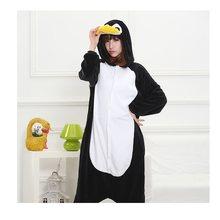 d3a8ed7779f8d04 Пижамы для женщин kugurumi Пингвин новые зимние Аниме пижамы взрослых  животных Черный Пингвин Косплэй пижамы костюм унисекс