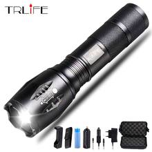 10000 LM Led Flashlight Ultra Bright torch T6/L2/V6 Flash light 5 switch Modes Zoomable Bike Light By 18650 Battery for Camping(China)