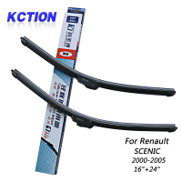 Car Windshield Wiper Blade For Renault SCENIC 2000 2005 16 24 Silicone Wiper Bracketless Car Accessories