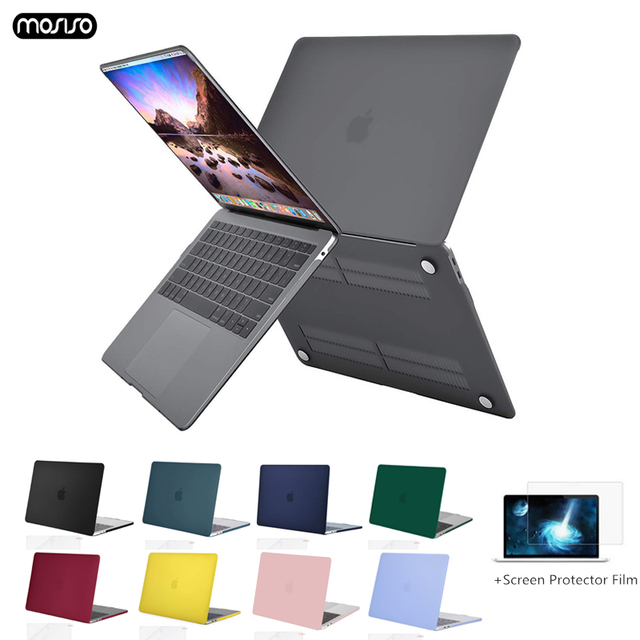2019 new Crystal\Matte Case For Apple Macbook Air Pro Retina 11 12 13 15 inch Laptop Bag for New Mac book Air Pro 13.3 Case A193