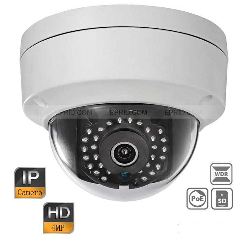 Оригинальный английский ds-2cd2142fwd-i 4mp HD WDR H.264 + IR IP66 безопасности купольная сетевая CCTV POE IP вандала Камера ...
