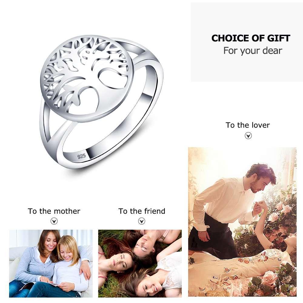 Pohon kehidupan Aksesoris Klasik 925 Sterling Cincin Perak Untuk - Perhiasan fashion - Foto 3