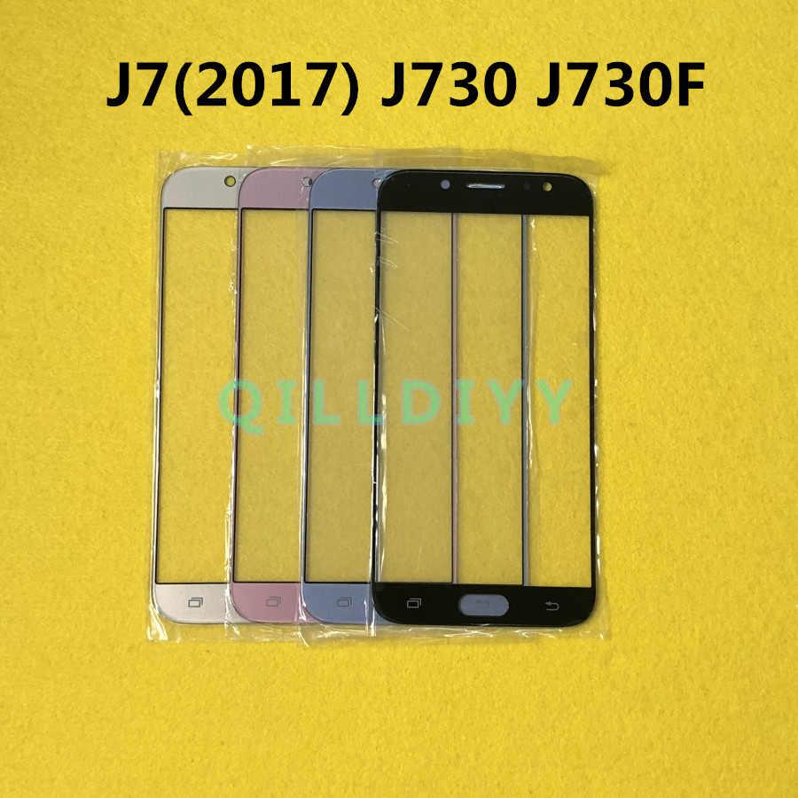 استبدال LCD جبهة شاشة تعمل باللمس الزجاج الخارجي عدسة لسامسونج غالاكسي J7 2017 J730 J730F
