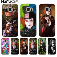 MaiYaCa Alice In Wonderland Johnny Depp Unique Design phone case for Samsung S9 S9 plus S5 S6 S6edge S6plus S7 S7edge S8 S8plus(China)