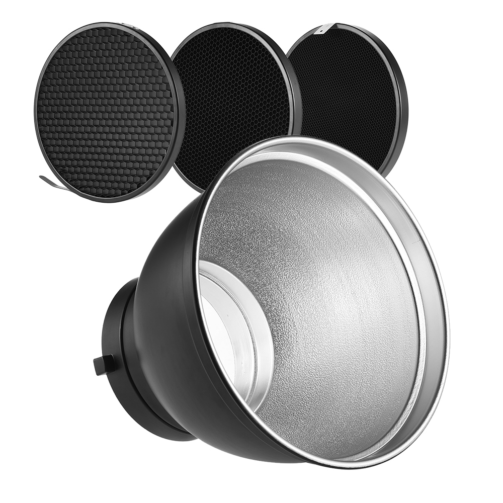 "Haoge 7 Standard Reflector Diffuser Lamp Shade Dish For: 7"" Standard Reflector Diffuser Lamp Shade Dish W/20 40 60"
