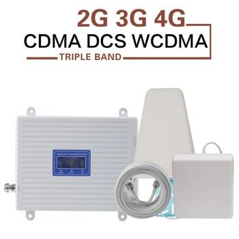 New Zealand Israel 2G 3G 4G Signal Repeater CDMA 850 DCS 1800 WCDMA 2100mhz Mobile Signal Booster B1 B3 B5 4G LTE Amplifier 70dB