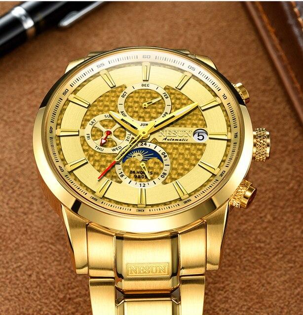 NESUN Luxury Brand Swiss Watch Multifunctional Display Automatic Self-Winding 3