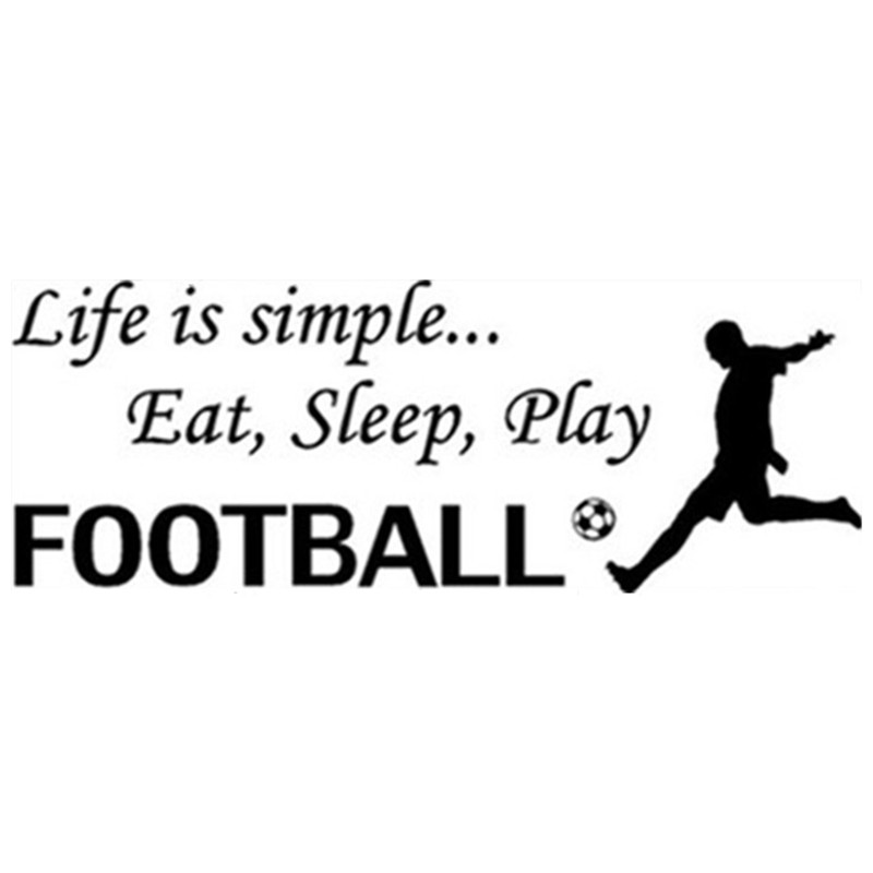 Simple Quotes About Life Alluring Soccer Quotes Wall Decals Life Is Simple Eat Sleep Play Football