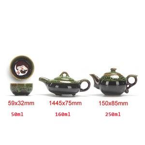 Image 5 - 中国カンフー茶は、セラミック釉薬ティーポット磁器 Teaset ポータブル茶カップ茶道の茶器のためのギフトセット友人