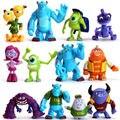 Novo Item 2013 12 pçs/set Monsters Inc. Monstros University Mike Sully PVC Action Figure Frete Grátis