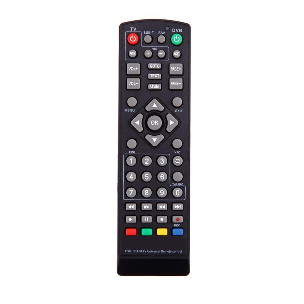 Универсальный пульт дистанционного управления Управление Замена с настройкой Функция для ТВ DVB-T2 дистанционного Управление черный телевиз...