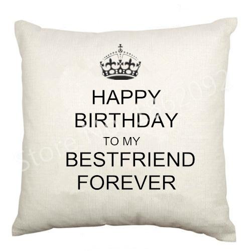best friend birthday cushion cover velvet happy birthday bestie