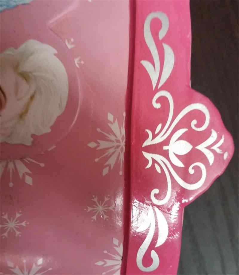 2019 New Disney Frozen Annie Girls Rain boots Cute Pink Elsa Snow Princess Water shoes Student Rain boots Rubber size 23 36