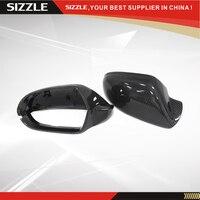 Для Audi A6/S6/RS6 Замена Стиль углеродного волокна боковое зеркало заднего вида покрытия без Lane Assit