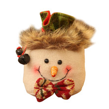 Pouch Snowman Christmas Cute Brushed Cloth Elk Pocket Hanging Drawstring Home Decoration Favor Candy Tree Ornaments Gift Bag(China)