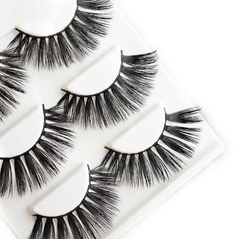 3 Pairs/set Natural Long Thick 3D Lash Extensions Beauty Hair False Eyelashes Fake Individual Eyelashes Maquiagem