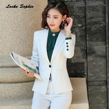 1pcs Womens Slim fit Blazers coats 2019 Autumn Fashion cotton blend Small Suits jackets ladies Skinny office
