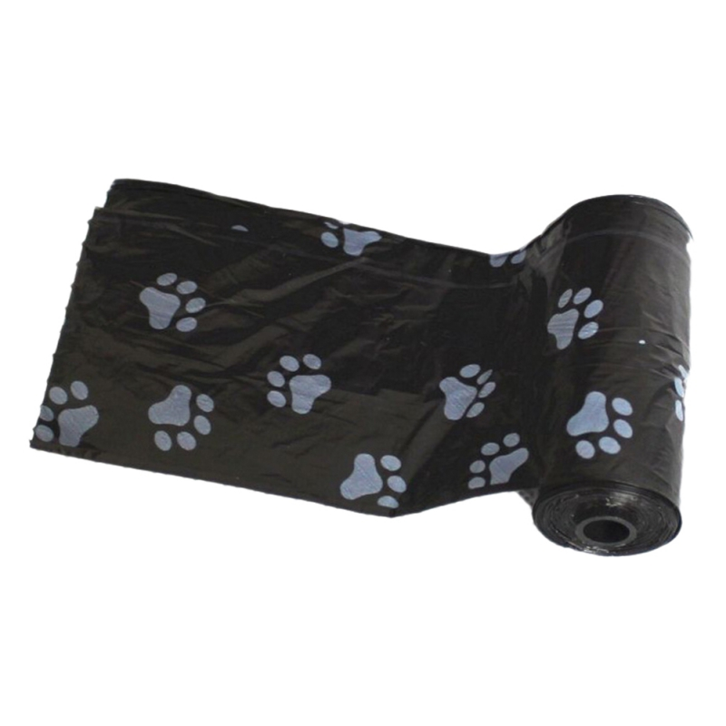 Pandada New 10 Rolls=150pcs Degradable Pet Dog Waste Poop Bag With Paw Printing Doggy Bag Shit Picking Bags