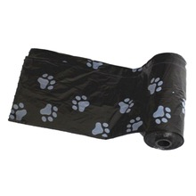 panDaDa 2018 Nuevo 10 rollos = 150pcs Degradable Pet Dog Waste Poop Bag con Paw Printing Doggy Bag Shit picking bags