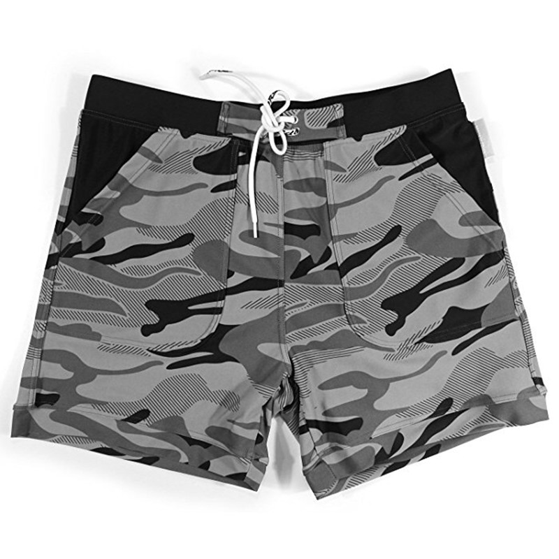 Printed Men Swimwear Board Shorts Trunks Beach Boardshorts Men Short Pants Swimsuits Mens Camo Hawaii Shorts Summer