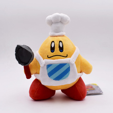 Free Shipping 19cm Cute Kirby Plush Toy Kawaii Cook Kirby With Pan Stuffed Doll For Children's Great Birthday Gift