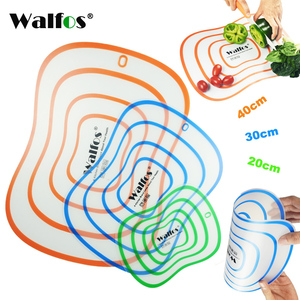 WALFOS Non-slip flexible kitchen Board Chopping Block Meat Vegetable Fruit Cutting Board cooking tool gadget kitchen accessories
