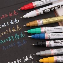 8 Farben/Set 0,7mm Extra Feine Spitze Farbige Marker Pens Wasserdicht Permanent Marker Metallic Farbe Marker Für Stoff/glas/Keramik