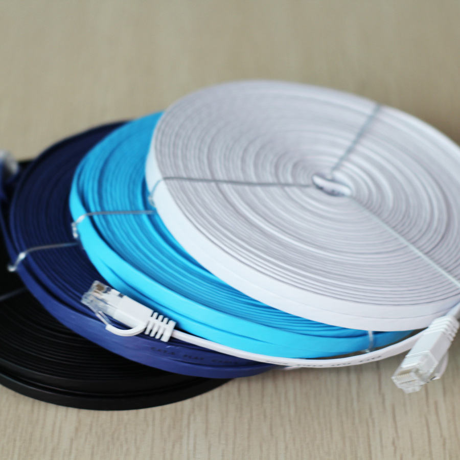 0.5m 5m 15m 30m Ethernet Cables Flat LAN CAT6 cable Modem Router ...