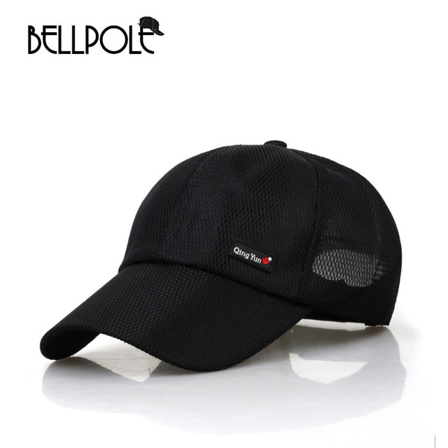 Bellpole Musim Panas wanita topi baseball pria kapas bernapas jala topi  baseball mens tulang snapback gorras 03dff9af69