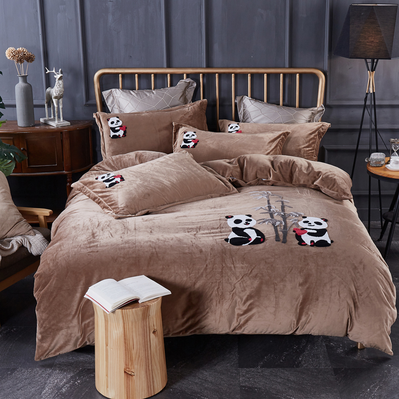 Thickening  raising fabric  Luxury  Bedding Set Soft Bedclothes Duvet/Quilt Cover Bed Linen sheet set 4 Pieces Bedding SetsThickening  raising fabric  Luxury  Bedding Set Soft Bedclothes Duvet/Quilt Cover Bed Linen sheet set 4 Pieces Bedding Sets