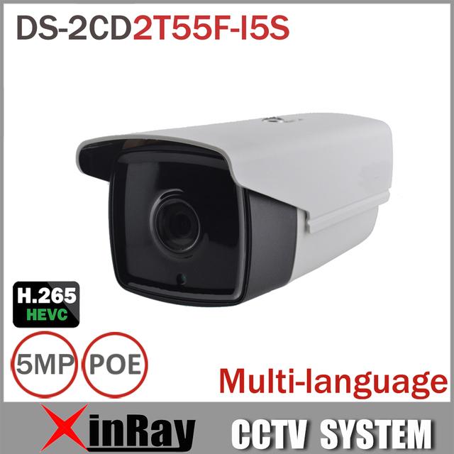 Nova Câmera de 5MP IP HIK DS-2CD2T55F-I5S CCTV Câmera com 50 m Faixa de IR cartão micro sd slot para alarme e interface de áudio full hd ip cam
