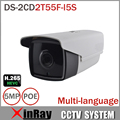 Nueva HIK DS-2CD2T55F-I5S CCTV Cámara de 5MP Cámara IP con 50 m IR Rango tarjeta sd micro ranura de interfaz de alarma y audio full hd ip cam