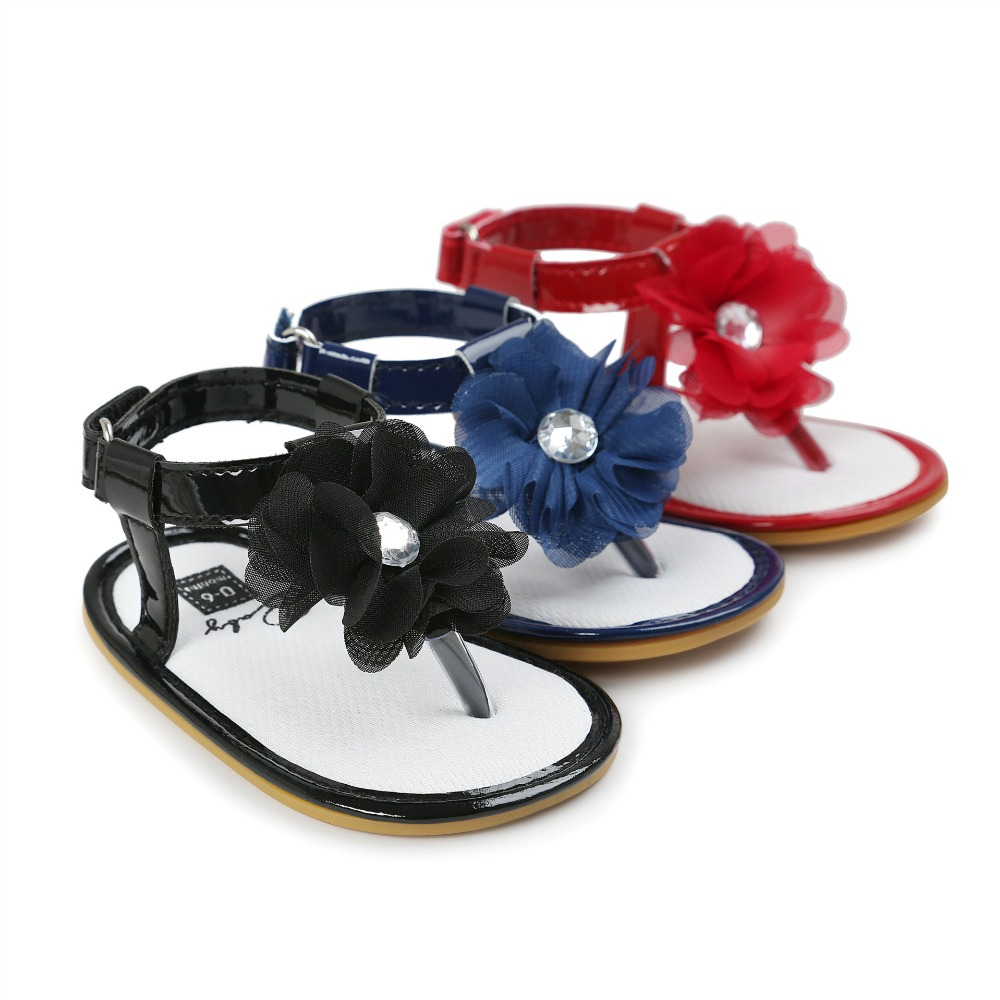 2017 Estate Neonate Scarpe Fiore infantile sandali bambino ragazza antiscivolo bambini sandali bambino mocassini bambini mocche ragazze scarpe