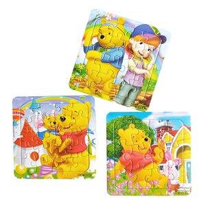 Image 5 - Puzzle cyfrowy papier słynny rysunkowy puchatek edukacyjne zabawki dla dzieci 9/12/16 sztuk Puzzle gra darmowa wysyłka zabawki dla dzieci