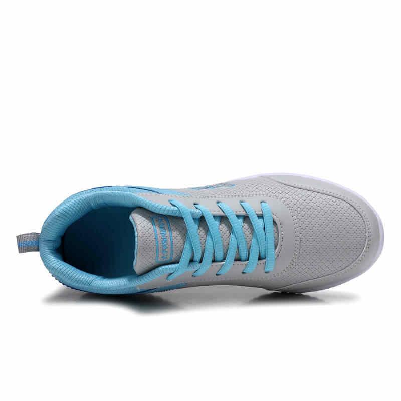 2019 Tamanho 35-41 Novos Tênis Da Moda para As Mulheres Ultra-luz Azul De Couro Sapatilhas Sapatos de Ginástica Do Esporte tenis Feminino Cesta Femme