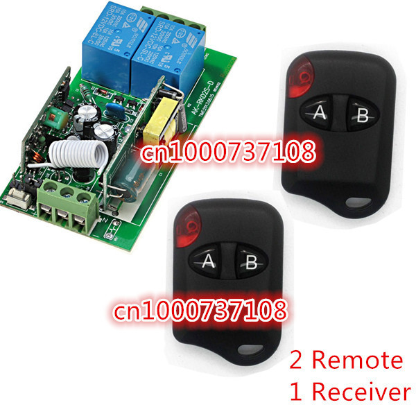 220V 2CH Wireless Remote Control Switch Receiver Board & Transmitter Remote Controller 10A relay switch with CE &Plastic case 110v 220v remote relay control switch 15ch receiver