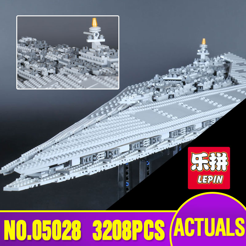 Lepin 05028 Star Execytor Super Star Destroyer Model War Building Kit  Block Brick Children Toy Gift Compatible With 10221 lepin 22001 pirate ship imperial warships model building block briks toys gift 1717pcs compatible legoed 10210