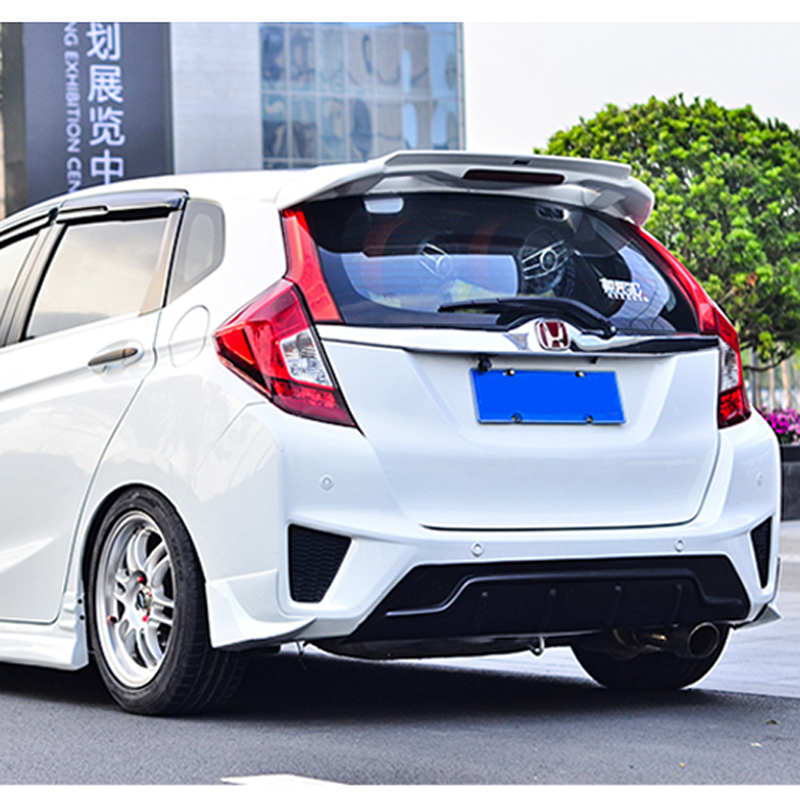 For Honda GK5 Fit / Jazz 2014 2015 2016 2017 Car Decoration Rear Spoiler High Quality ABS Material Paint Roof Tail