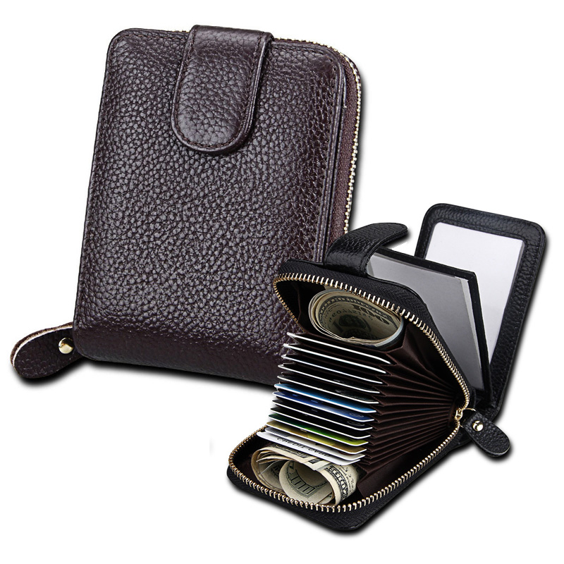 Multi Function Leather Wallet Holder for Auto Car ...