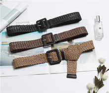New Vintage Knitted Wax Rope Wooden Bead Waist Women Smooth Buckle Belt Woman Woven Female Hand-Beaded Braided BZ18