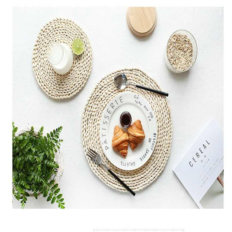 Шикарный ретро кукурузная шелуха переплетения подставки для кружек Посуда коврик теплоизолированный стол коврик горшок тарелка блюда и чашка коврик кухонный аксессуар