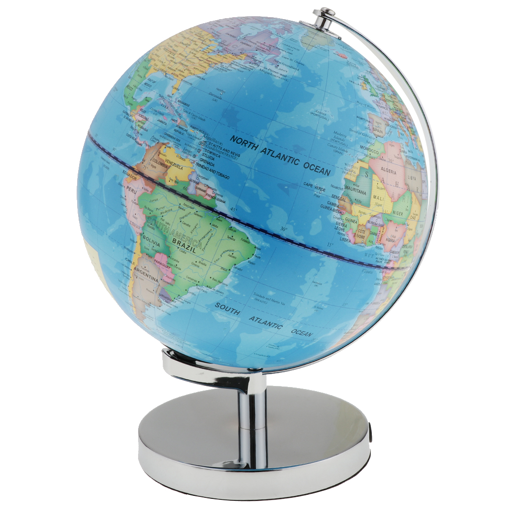 Map Of The World Globe View.2 In 1 Day View World Globe And Night View Illuminated Constellation Map Globe