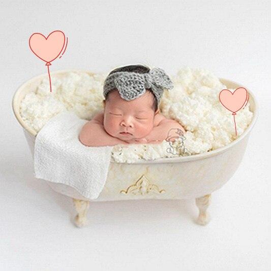 Ernstig Vullen Met Water Ijzeren Douche Baby Bad Pasgeboren Fotografie Props Schieten Bebe Bad Creative Mooie Prop Zorgvuldige Verfprocessen