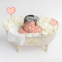 fill with water iron shower baby bathtub newborn Photography Props shooting  bebe creative lovely prop