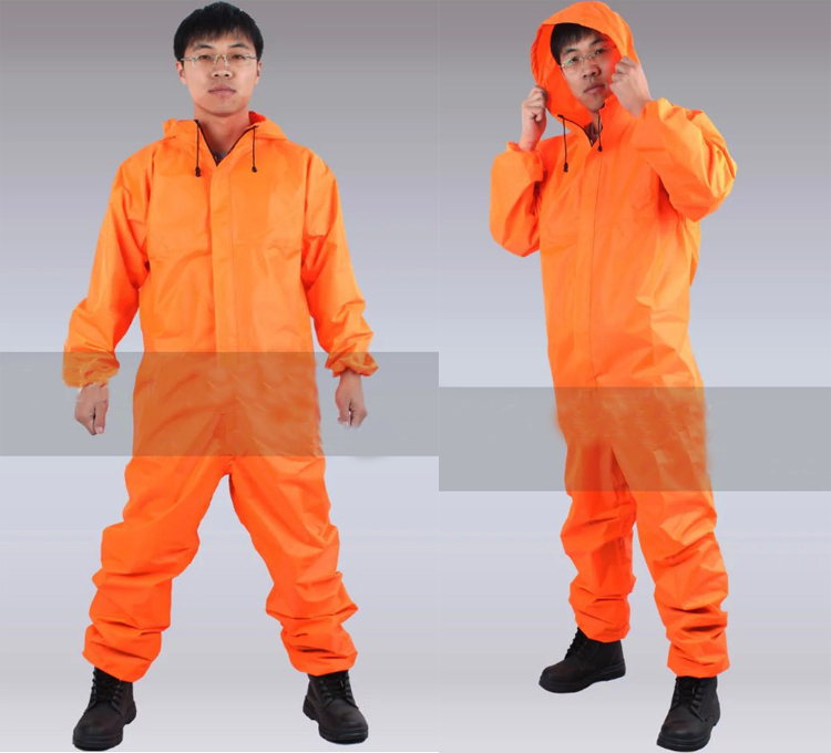 спецодежда плащ непромокаемый - SPARDWEAR Free Shipping Mens Womens New orange workwear rainsuit rain wear uniform orange /blue waterproof coverall work suit