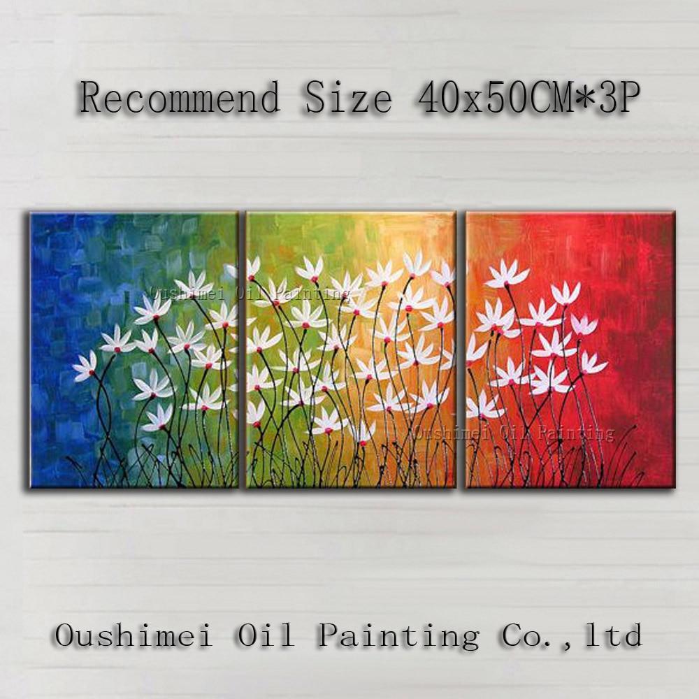 Medium Of Abstract Flower Paintings
